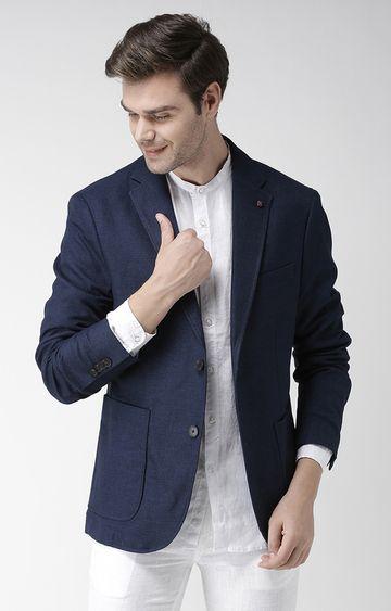 celio   Blue Printed Regular Fit Casual Shirt