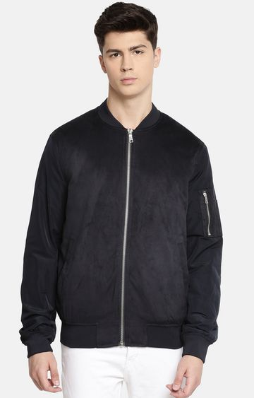 celio | Navy Solid Bomber Jacket