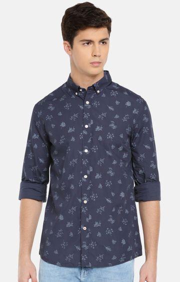 celio | Navy Printed Casual Shirt