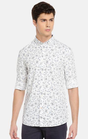 celio | White Printed Casual Shirt
