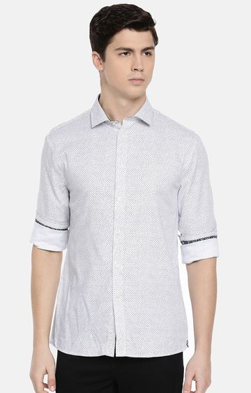 celio | White Printed Casual Shirt