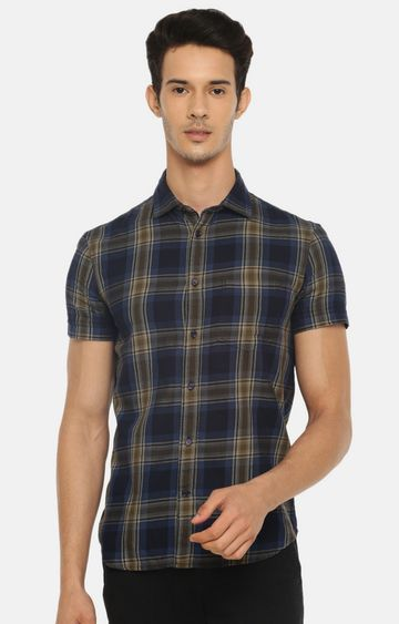 celio | Blue Checked Casual Shirt