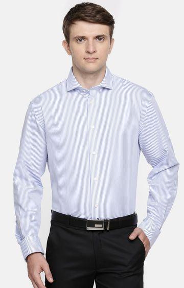 celio | Blue Striped Formal Shirt