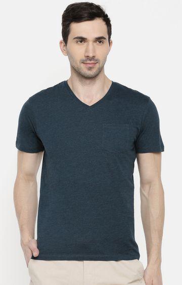 celio   Green Melange T-Shirt