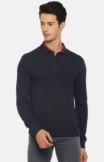celio | Black Striped Polo T-Shirt