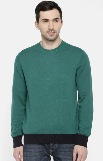celio | Green Solid Sweater