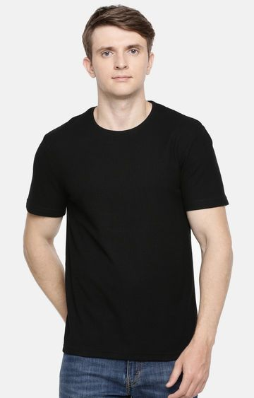 celio | Black Solid T-Shirt