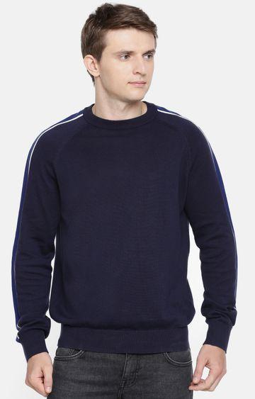 celio | Navy Solid Sweater