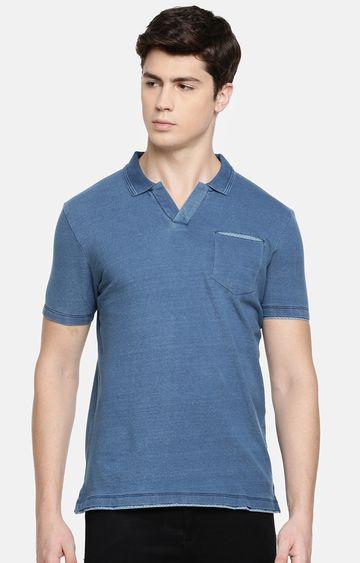 celio | Light Blue Melange Polo T-Shirt