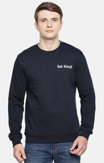 celio | Blue Solid Straight Fit Sweatshirt