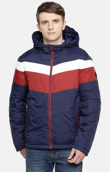 celio | Navy Colourblock Bomber Jacket