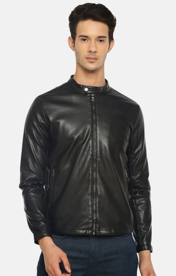 celio | Black Solid Bomber Jacket