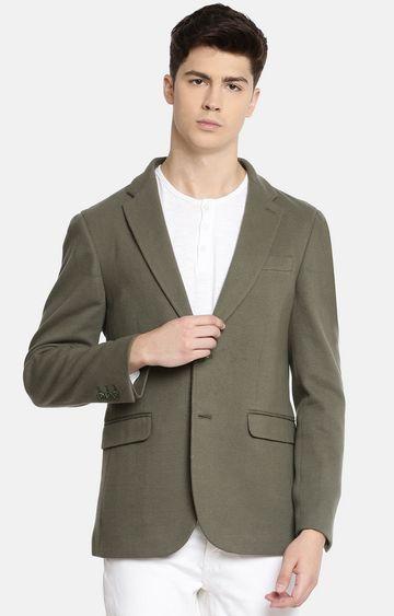 celio | Khaki Solid Blazer