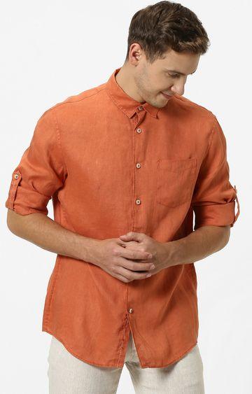 celio | Rust Solid Casual Shirt
