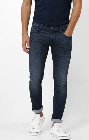 celio | Indigo Solid Skinny Fit Tapered Jeans