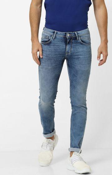 celio   Dark Blue Solid Tapered Jeans