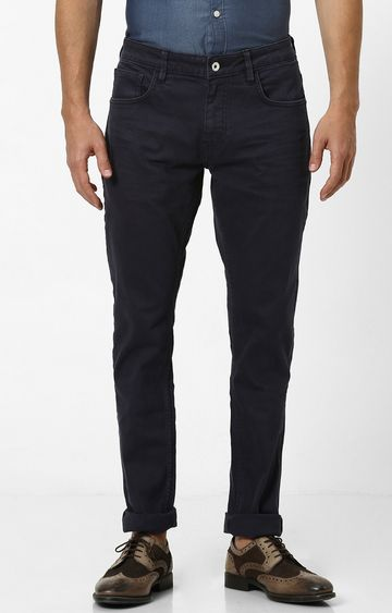 celio | Navy Solid Tapered Jeans