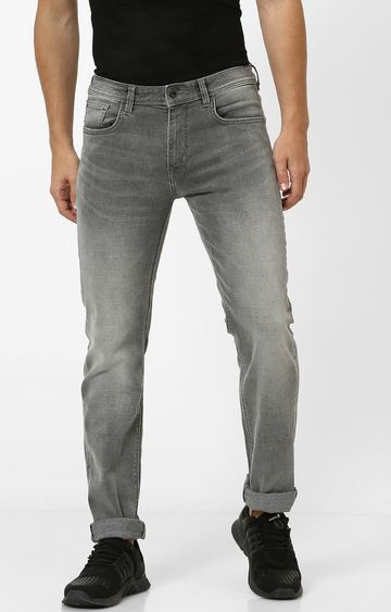 celio   Grey Solid Tapered Jeans