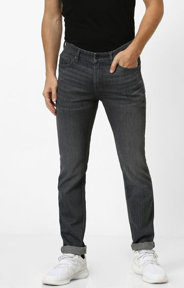 celio | Grey Solid Slim Fit Jeans