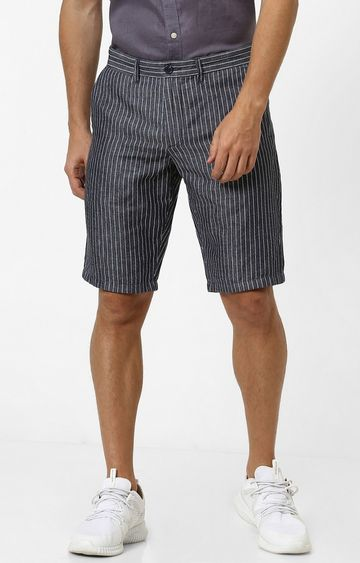 celio | Blue Striped Regular Fit Shorts