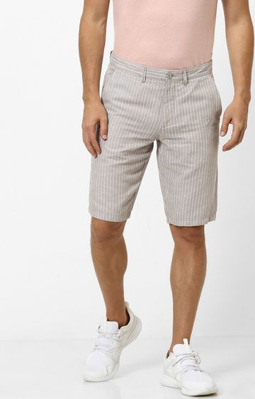 celio | Grey Solid Regular Fit Shorts