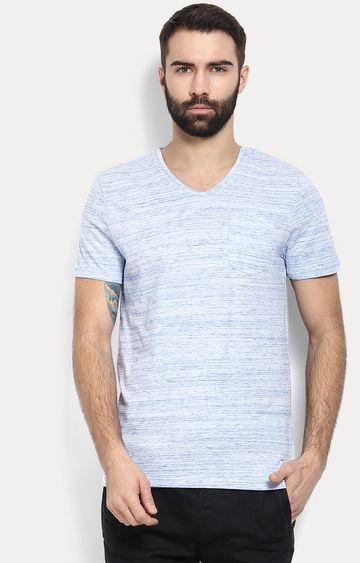 celio   Blue Melange T-Shirt