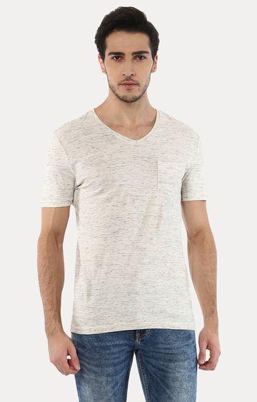 celio | Vebasic Beige Melange T-Shirt