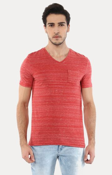 celio | Vebasic Red Melange T-Shirt