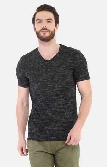 celio   Black Melange T-Shirt