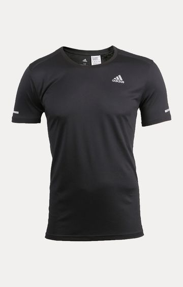 adidas | Black Solid T-Shirt