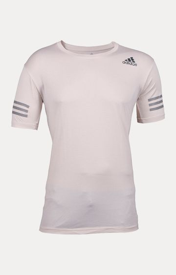 adidas | White Striped T-Shirt