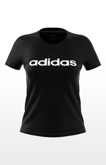 adidas | adidas Blue Printed W E Lin Slim T-Shirt