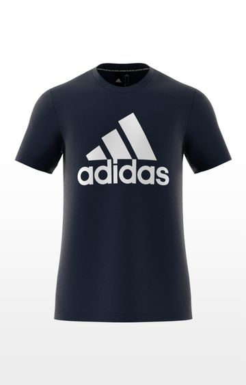 adidas | adidas Blue Printed Mh Bos T-Shirt