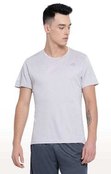 adidas | Grey Solid T-Shirt