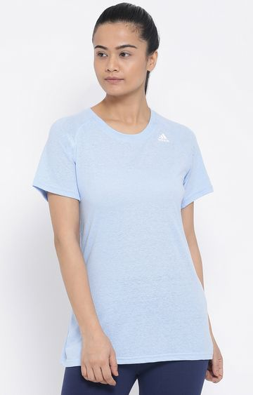 adidas | Blue Solid Prime 2.0 T-Shirt