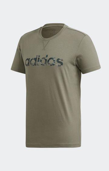 adidas | adidas Olive Printed E Camo Lin T-Shirt