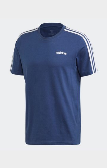 adidas | adidas Blue Solid E 3S T-Shirt