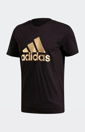 adidas | adidas Black Printed 8-Bit Foil Grfx T-Shirt