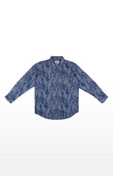 Gini & Jony | Blue Printed Shirt
