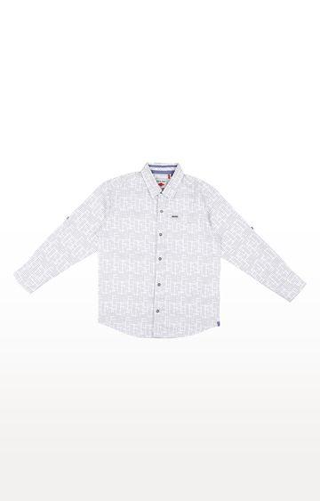 Gini & Jony | White Printed Shirt
