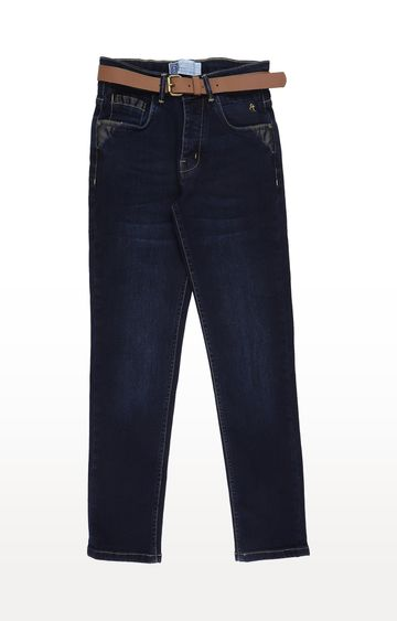 Gini & Jony | Blue Solid Jeans