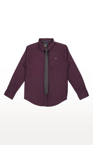 Gini & Jony | Purple Solid Shirt