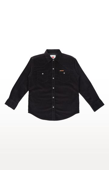 Gini & Jony | Black Solid Shirt