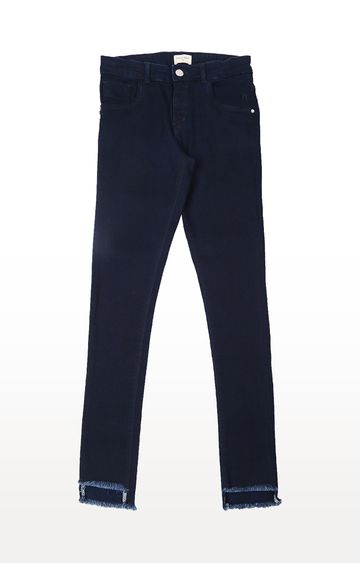 Gini & Jony | Blue Solid Jeans