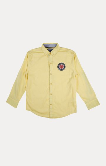 Gini & Jony | Yellow Solid Shirt
