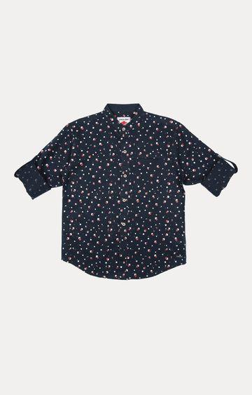 Gini & Jony | Navy Polka Dots Shirt