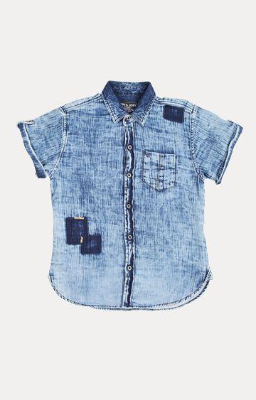 Gini & Jony | Blue Ripped Shirt