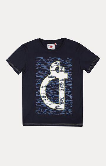 Gini & Jony | Navy Printed T-Shirt
