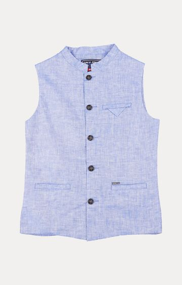 Gini & Jony | Blue Striped Ethnic Jacket
