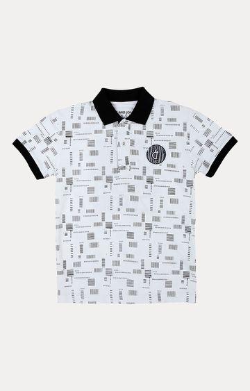 Gini & Jony | White Printed T-Shirt